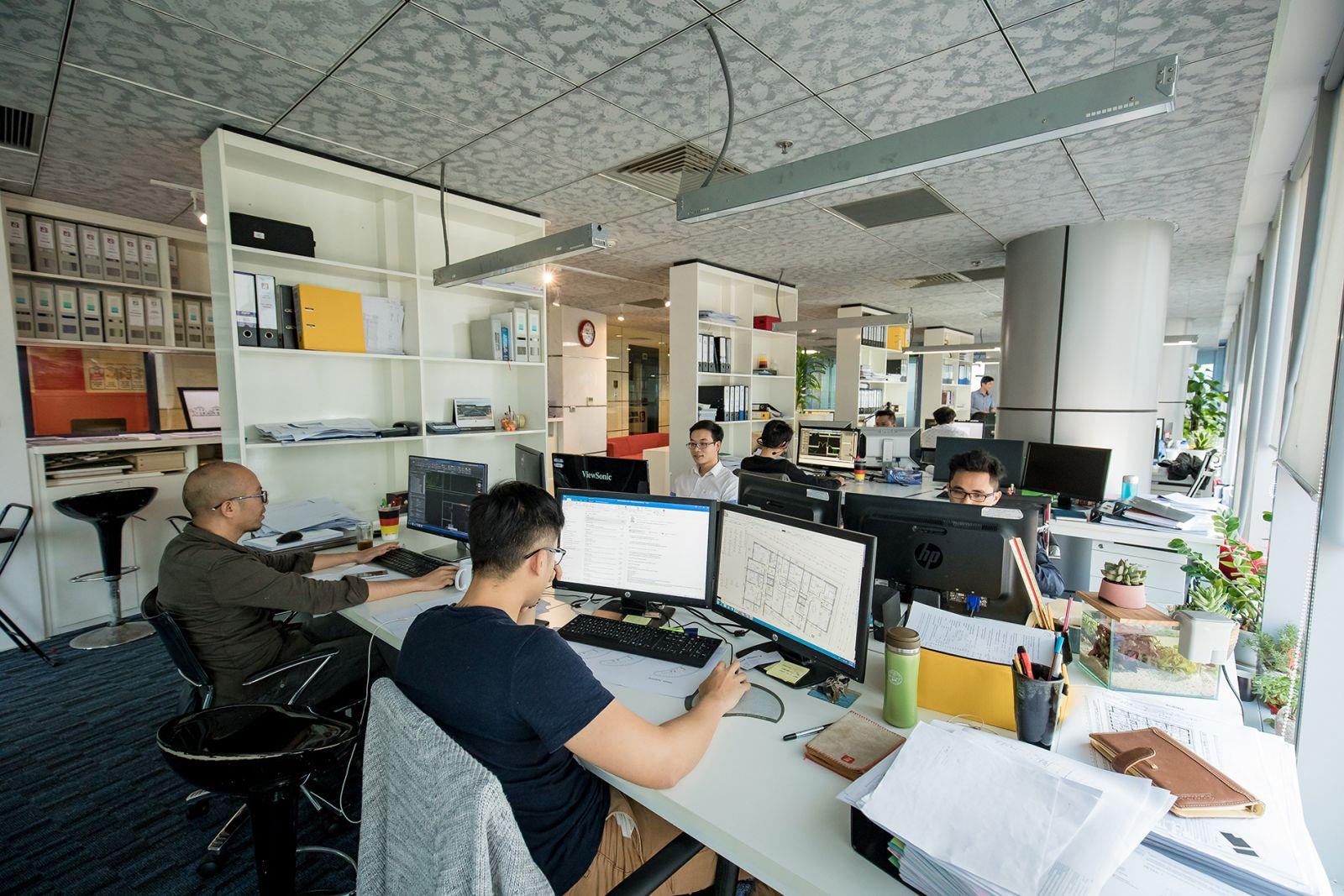 thiết kế văn phòng 200m2