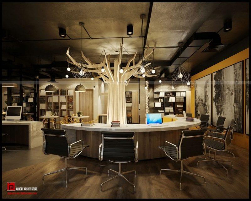 thiết kế văn phòng 20m2 đẹp