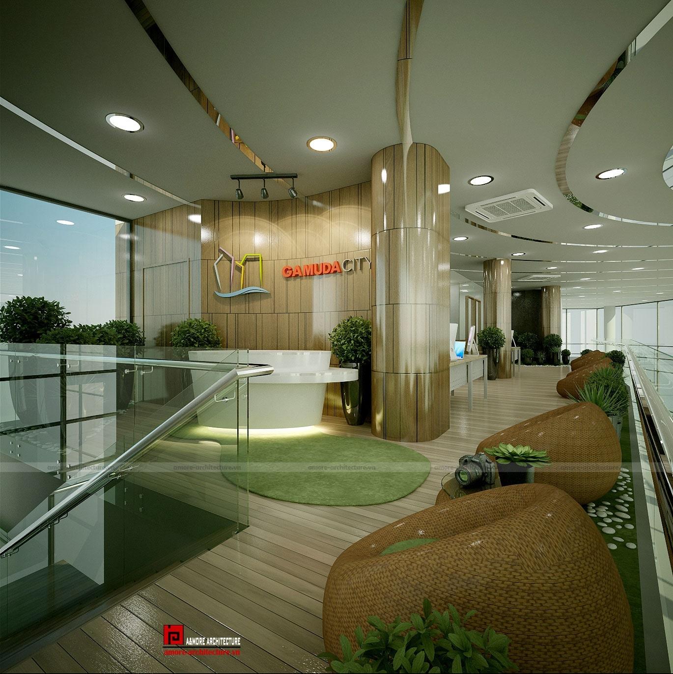thiết kế văn phòng không gian mở