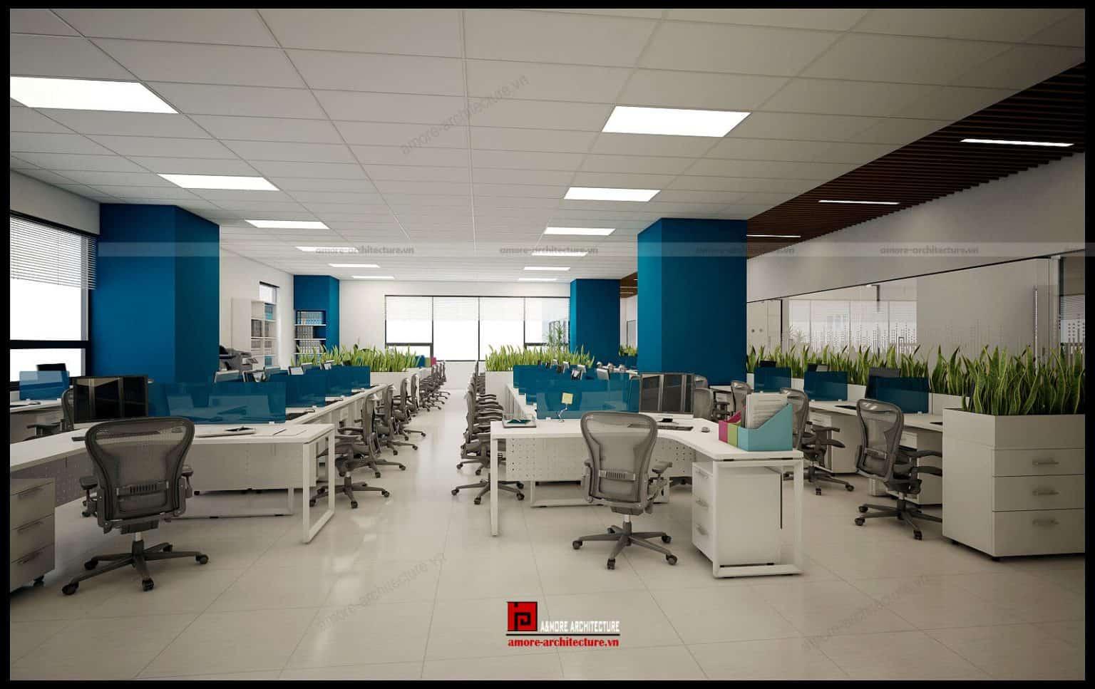 tiêu chuẩn thiết kế văn phòng m2 người