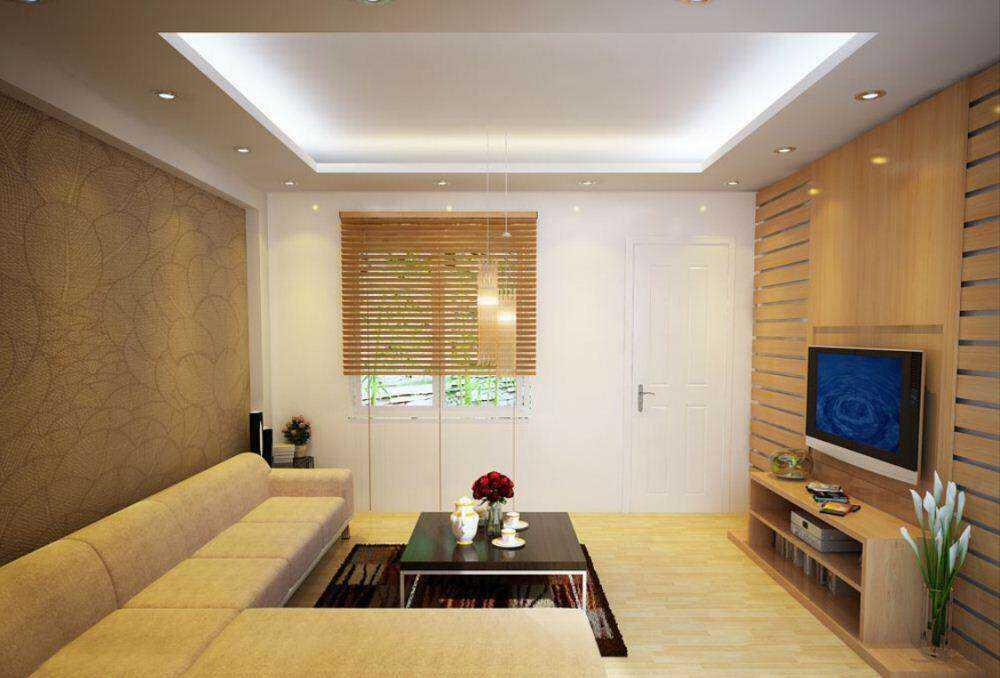 trang trí phòng khách với bàn ghế gỗ