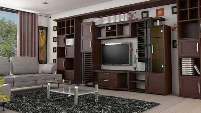 cách trang trí phòng khách bằng gỗ