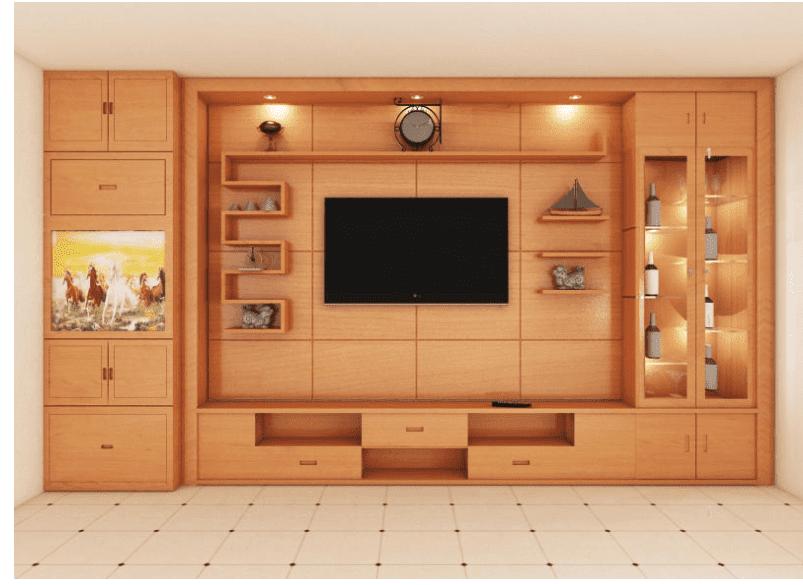 đồ trang trí phòng khách bằng gỗ