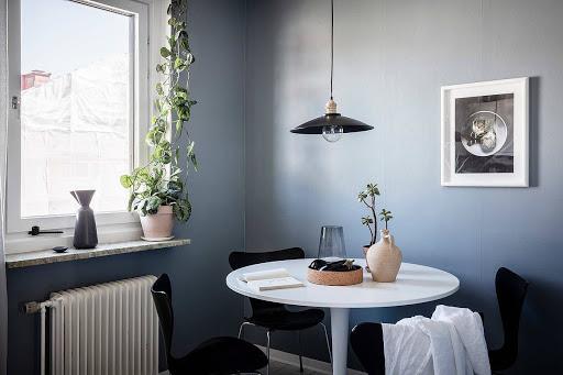 Phòng ăn được thiết kế nhỏ gọn đầy ấm cúng