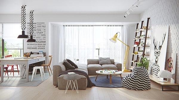 thiết kế nội thất chung cư 150m2 thanh lịch
