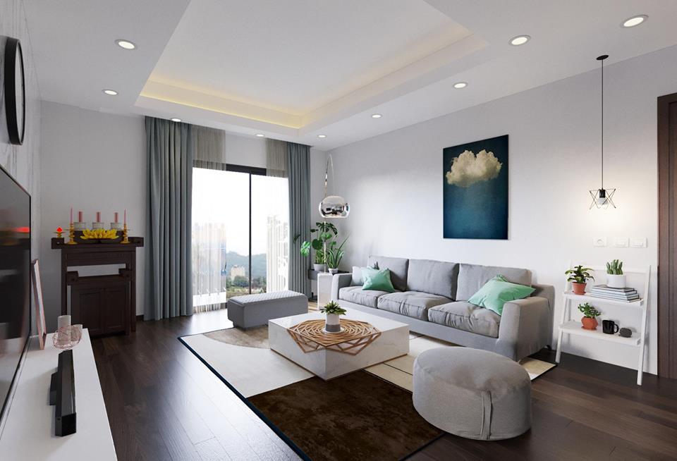 thiết kế nội thất chung cư 45m2